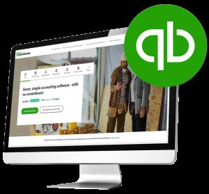 Quickbooks Accounting website on desktop screen blog
