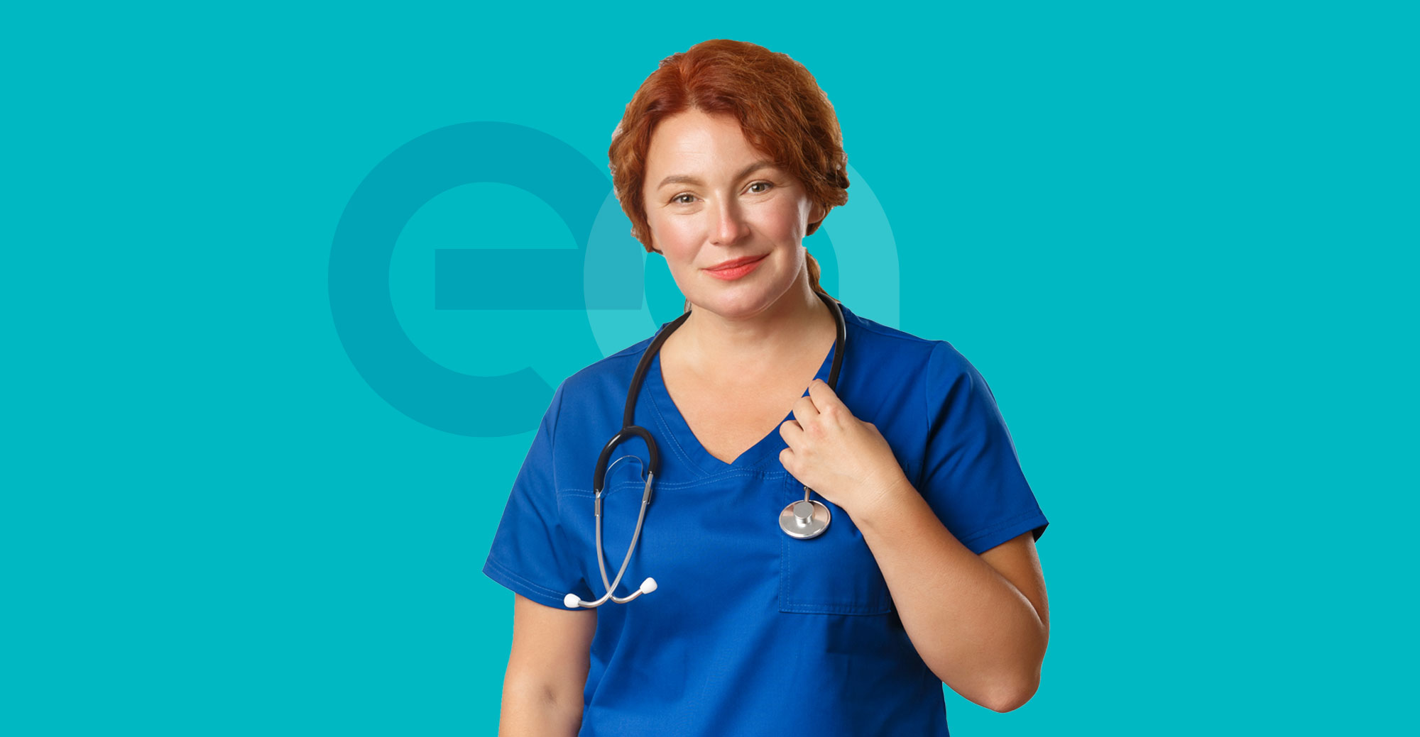 Veterinary practice owner with EA logo