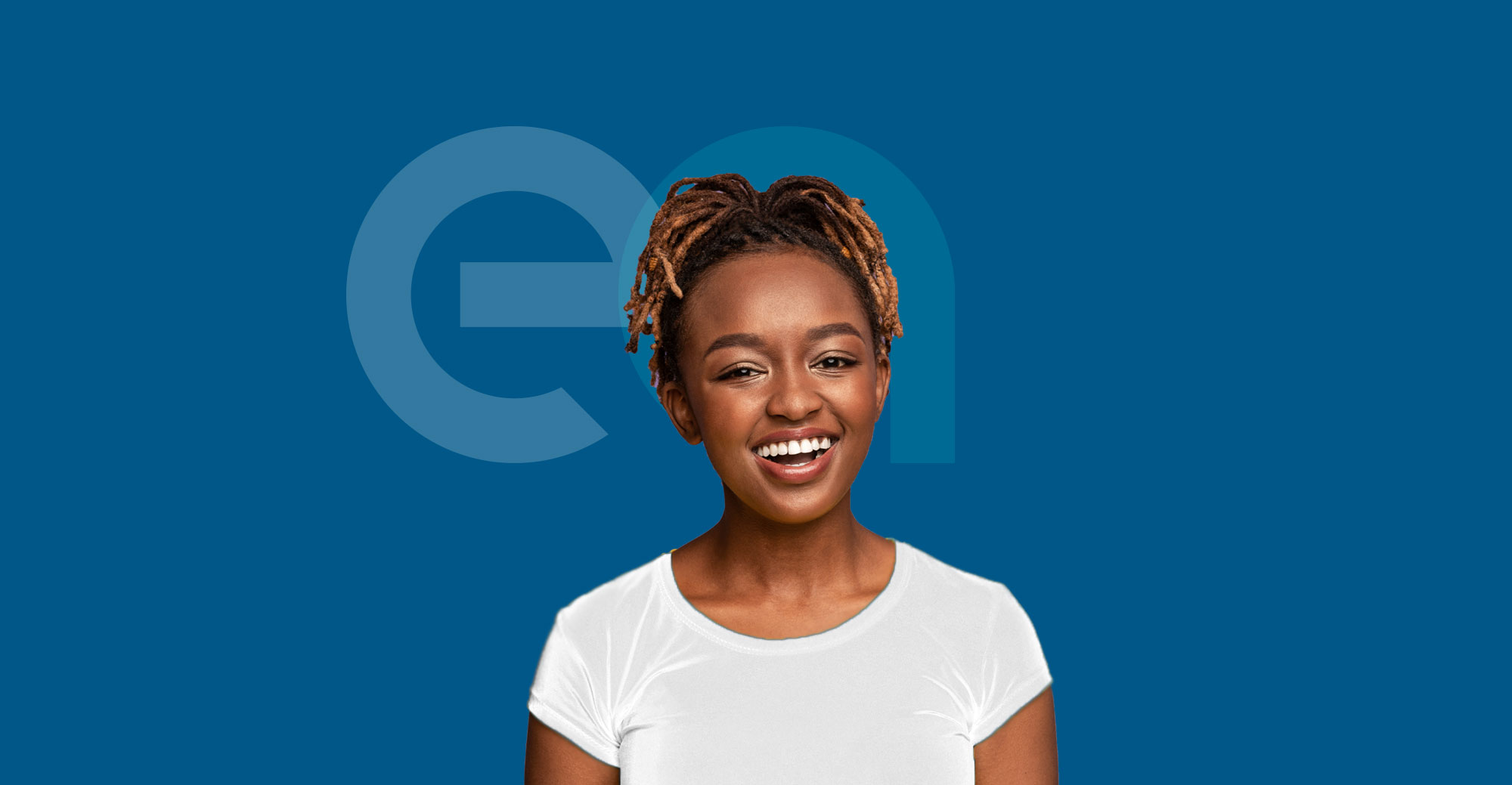 African American female smiling with EA Chartered Accountants logo