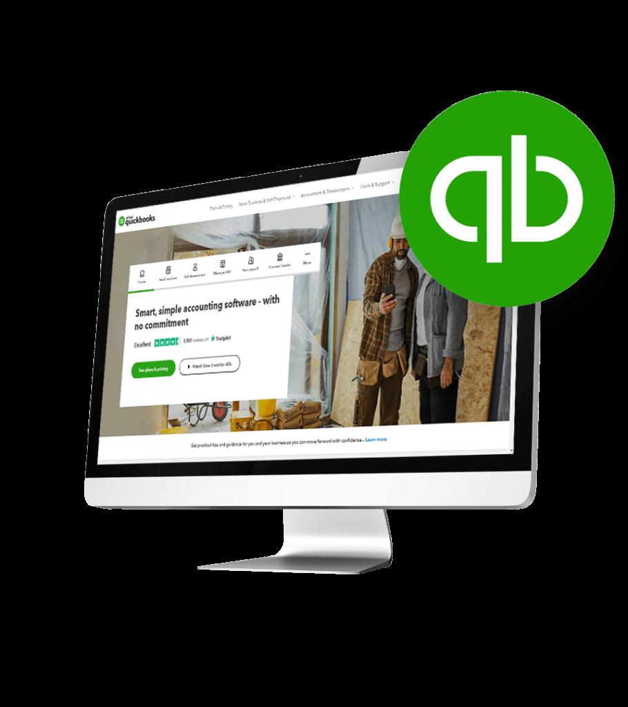 Quickbooks Accounting website on desktop screen
